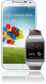 Bundle: Samsung Galaxy S4 weiß + Galaxy Gear (verschiedene Farben) für 499 Euro @Base.de