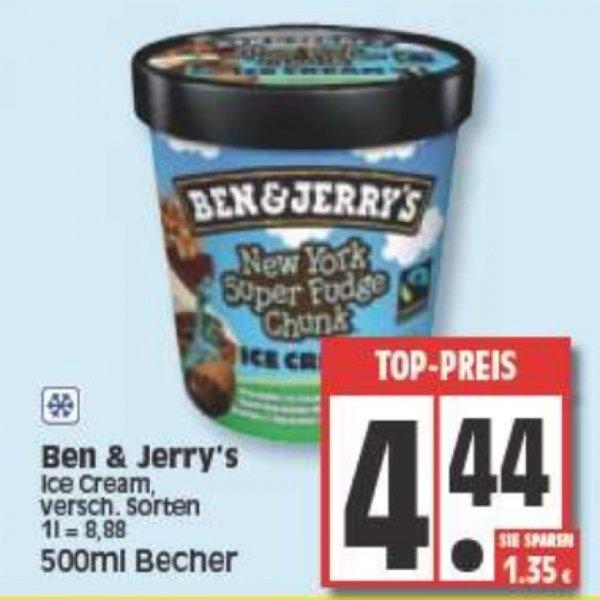 Ben & Jerryx27s bei Edeka (500ml)