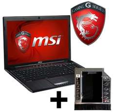 MSI GP60-i740M245FD Gaming Notebook + MSI GP60 HDD Einbaurahmen für 639,- Euro @notebooksbilliger.de