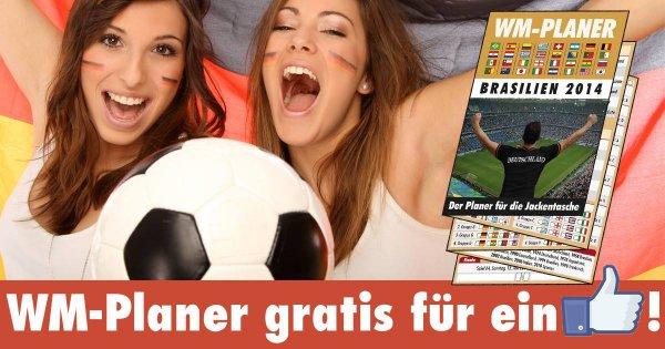Gratis WM Planer 2014 für ein Like bei Facebook
