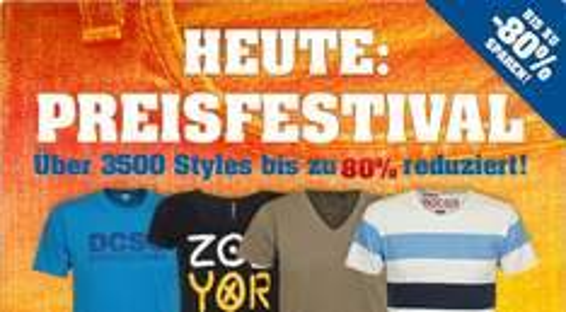 Klamotten und Schuhe bis zu 80% reduziert - Preisfestival - bei 4clever.de