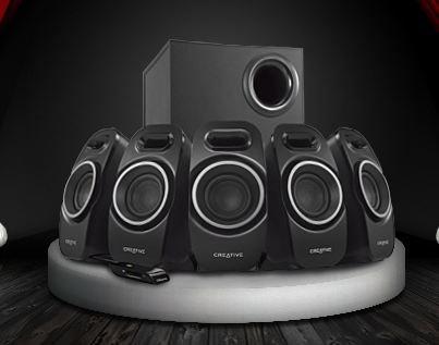 5.1-Lautsprechersystem Creative A550 @One.de 49,90 €
