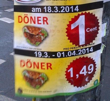 [Lokal]@Berlin - Eröffnungsangebot - Döner 0,01 EUR