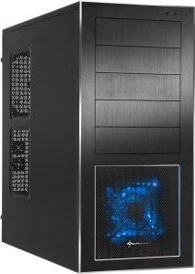 Sharkoon Nightfall USB3 - schwarzes ATX-Gehäuse mit Alufront @ZackZack für 44,94€
