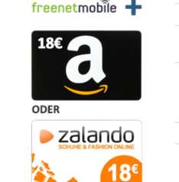 [Ebay] Amazon/Zalando 18€ Gutschein  Freenet