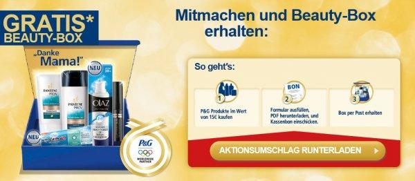 P&G-Produkte kaufen und Beauty-Box GRATIS erhalten