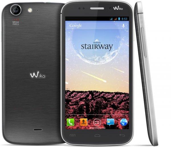 """Wiko Stairway Silver Grey für 189€ @NBB - 5"""" Smartphone mit Quadcore + DualSim und austauschbarem Akku"""