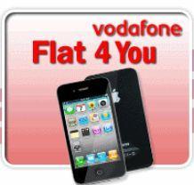 iPhone 4 16GB ohne Aufpreis mit Vodafone Flat 4 You (5 Flats)