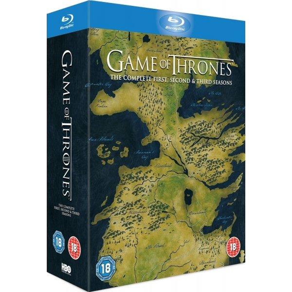 Game of Thrones Seasons 1-3 (OT) auf Bluray für 57€