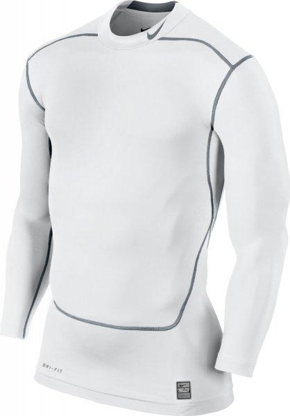 Nike Core Compression LS Mock 2.0 in WHITE und BLACK in vielen Größen verfügbar - für 16,00€ ! (Amazon Prime)
