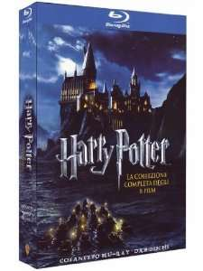 Harry Potter Komplettbox (Blu-ray, 8 Discs) mit dt. Ton @Amazon.it