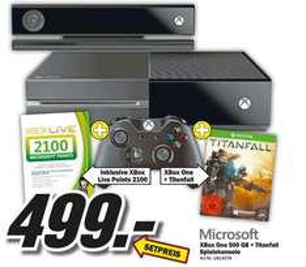 Xbox One + Titanfall + 2100 MS Points (Mediamarkt Wuppertal)