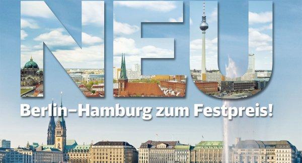 Hamburg - Berlin für 19,99€ Oneway / 29,99€ Retoure auch für Spontanfahrer AB 1.4. buchbar @ Deutsche Bahn DB