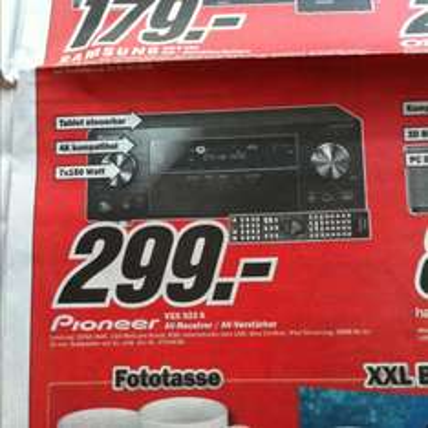 [vermutlich nur lokal] Pioneer VSX 923 K bei Mediamarkt Neuss für 299 €