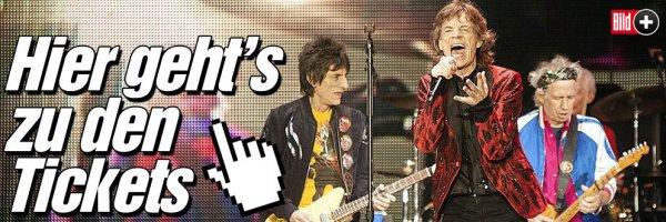 Rolling Stones Tickets Vorverkauf über Bild Plus