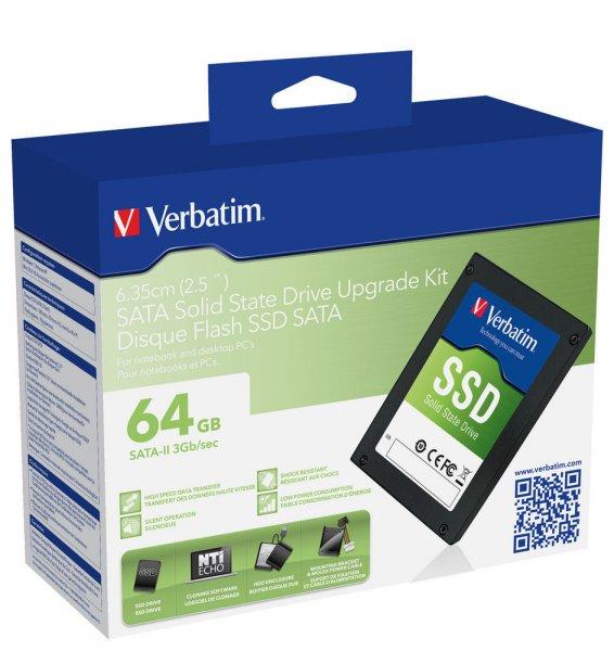 Verbatim SSD 64GB SSD-Upgrade-Kit 28,99 inkl. Versand
