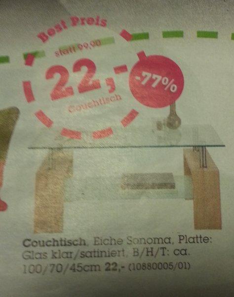 [evtl. Lokal] Mömax Couchtisch Sonoma Eiche -77% für 22€