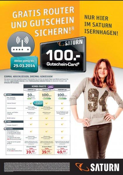 Saturn Isernhagen A2 Center - Kabel Deutschland Kombi Tarif 100