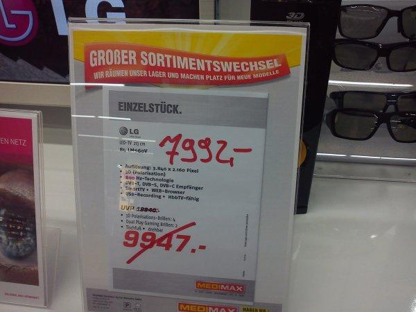 Riesen 4K TV LG 84LM960V @ Medimax Berlin Marzahn