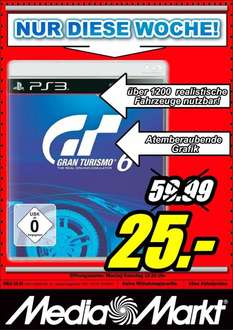 [Neu-Ulm] Media-Markt - PS3 Gran Turismo 6 - 25€