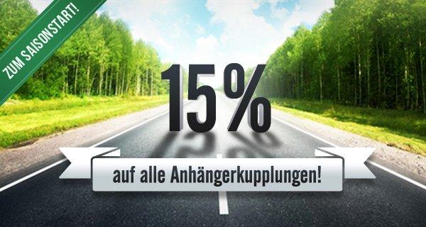 Kupplung.de  / Rameder   15% auf alle Anhängerkupplungen