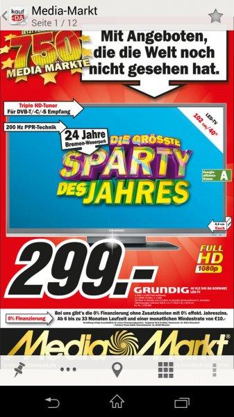 """[Lokal MM Weserpark] Grundig 40"""" VLE 545 BG statt 459,95€"""