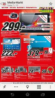 [Lokal MM Weserpark] Sony Xperia Z Tablet 16 Gb