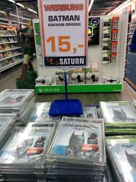 [lokal Saturn Berlin Alex] Batman Arkham Origins alle Plattformen 15 Euro