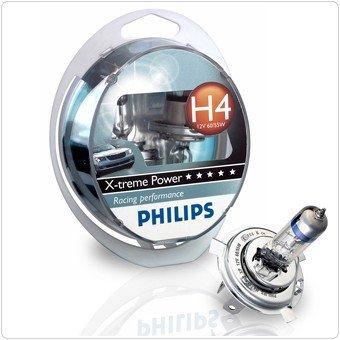 Preisfehler? Philips X-treme Power 12V H4 Halogenlampe +80% 2er SET für 12,44