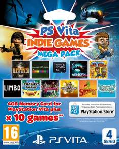 PS Vita Indie Games Mega Pack (10 Spiele) u.a. mit Limbo, Hotline Miami, Velocity Ultra inklusive 4GB Memory Card für 17,92 € inkl. Vsk.