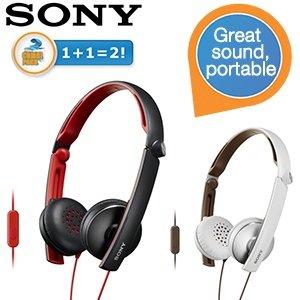 [ibood] Sony MDRS70APB.CE7 + MDRS70APW.CE7 Head-Sets , weiß / schwarz (Kombi- Pack )