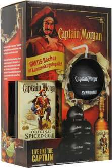 [Real] Captain Morgan + Gratis Becher in Kanonenkugeloptik