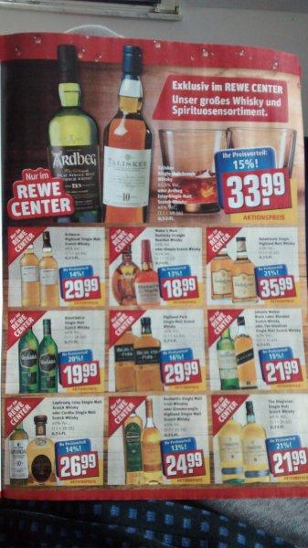 [Rewe Center] Whisky Deals z.B. Arbeg 10 für 33,99€