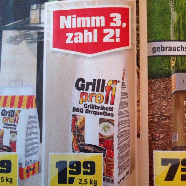 [OBI] Grill-Briketts 3 für 2