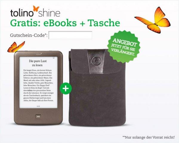 [Thalia.de]Tolino Shine + Tasche + eBooks (Wert 25€)
