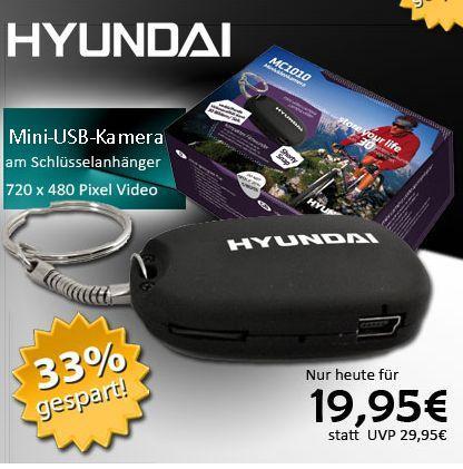 Spy Cam für Unterwegs :) Hyundai MC1010 Mini-Kamera als Schlüsselanhänger