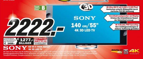 Sony KD-55X9005 für 2222€ Lokal [Mediamarkt Mönchengladbach]