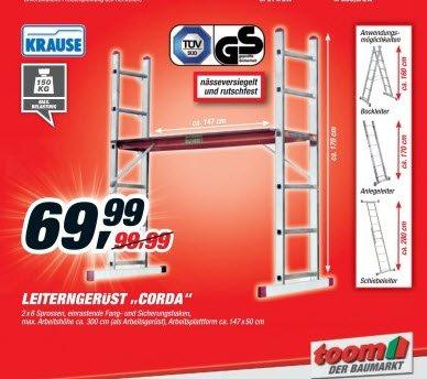 Krause Corda® Leitergerüst 2x6, toom Baumarkt, teilnehmende Märkte (lokal) ? Stuhr-Brinkum
