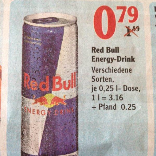 [Bundesweit Globus] RedBull 0,25l versch. Sorten