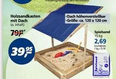 [offline REAL] Holzsandkasten mit Dach