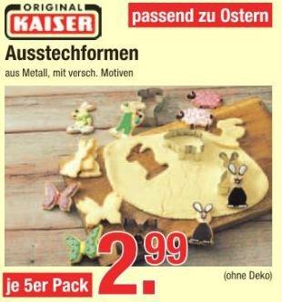 [lokal V-Markt Schwaben/Oberbayern] passend zu Ostern Kaiser Keksausstecher 5 tlg.