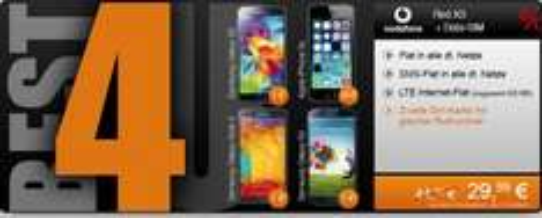 Vodafone Red XS, Allnet&SMS Flat, 200MB LTE, zweite SIM mit nochmal 200MB, 29,99 mtl. inkl iPhone 5S (29€), Galaxy S5 (1€), Galaxy Note 3 (1€)