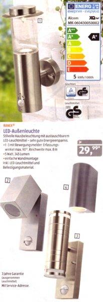ALDI Süd: LED -Außenleuchten mit GU10-Strahlern, 345 & 690 Lumen