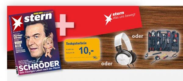Stern 9x für 19,90€ + 10€ Tankgutschein oder z.B. Kopfhörer + 8€ Cashback