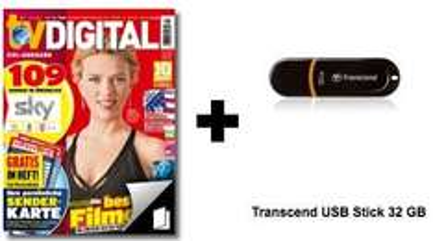 6 Ausgaben TV Digital XXL + Transcend 32 GB USB Stick @Lesershop24