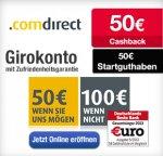 [Comdirect] (Neukunden) 50€ Eröffnung + 50€ Qipu Cashback (+Freundschaftswerbung) (Dauerhaft Kostenlos)