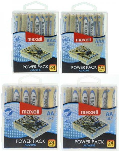 96 Maxell Alkaline Batterien (48x AA Mignon + 48x AAA Micro) für 19,99€ inkl. Versand