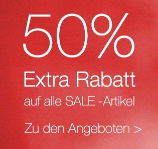SinnLeffers Sale mit 50% Extra Rabatt auf reduzierte Ware