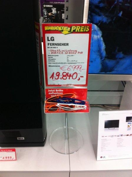 LG 84 LM 960 V (4K TV & Austeller)  für 6.999 € bei MM Alzey