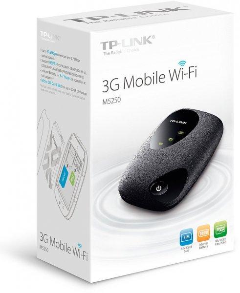"""TP-Link™ - Mobiler MIFI WLAN-Router """"M5250"""" (802.11b/g/n,HSPA+,2000mAh Akku) für €37,90 [@Amazon.de]"""